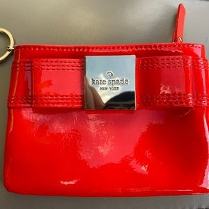Kate Spade ♠️ Red Leather Bow Wallet